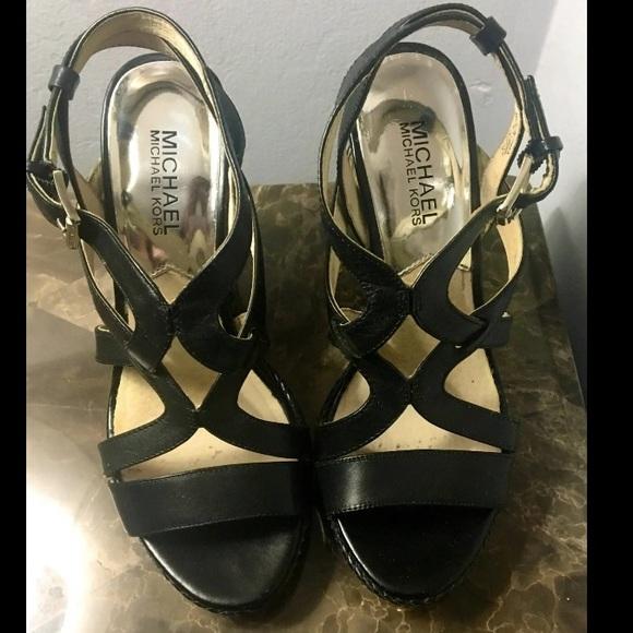 Michael Kors Shoes - Black Michael Kors Wedges
